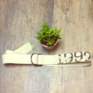 1992 adjustable cream belt